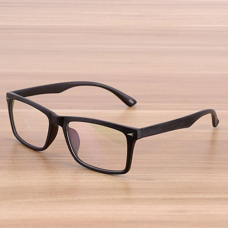 Reven 922 Men and Women Unisex Wooden Pattern Fashion Retro Optical Spectacle Prescription Glasses F