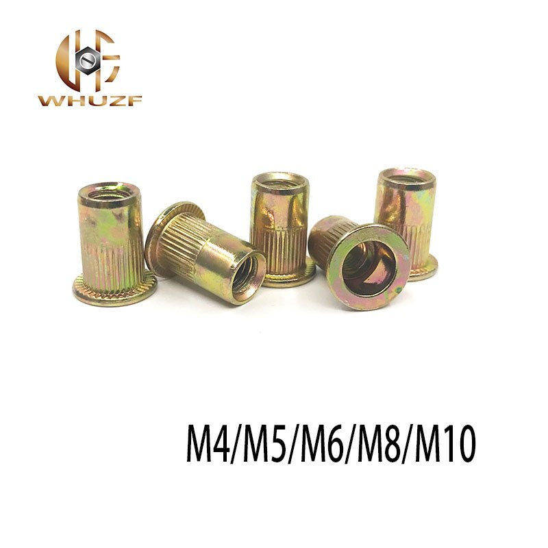 20 piezas M3 M4 M5 M6 M8 acero al carbono de alta calidad remaches variados remaches huecos remaches roscados chapados en Zinc herramientas de fijación de Hardware