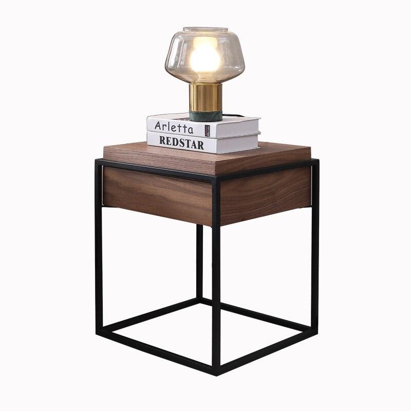 Прикроватный столик в скандинавском стиле, современные боковые столики, простая железная тумбочка, креативные шкафчики с Одним Выдвижным Я...