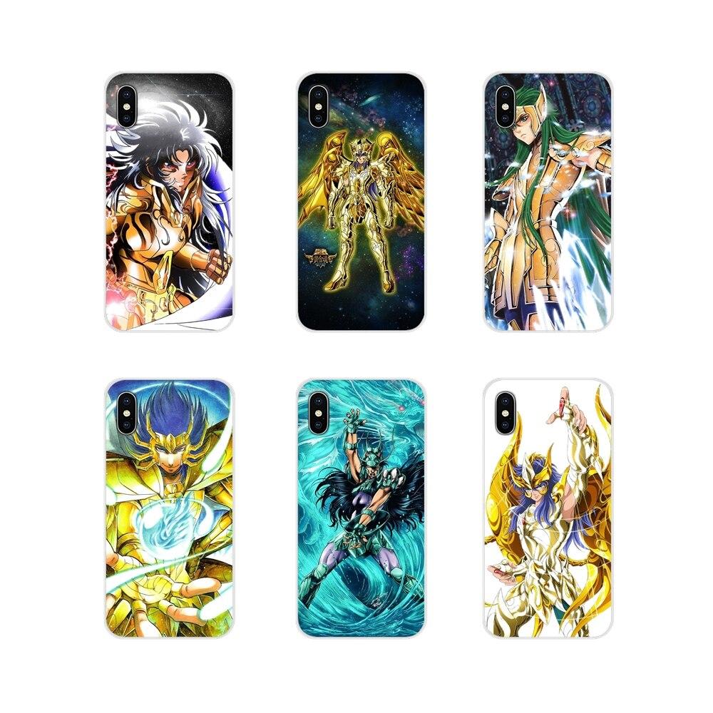 Para Samsung A10 A30 A40 A50 A60 A70 Galaxy S2 nota 2 3 Gran Core Prime piel suave caso Athena hyouga Aries Mu Scorpio Saint Seiya