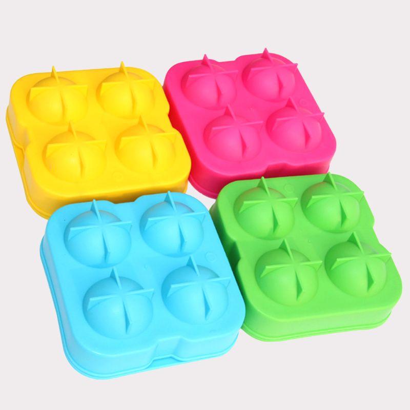 Форма для изготовления кубиков льда, форма для изготовления кубиков виски, круглые аксессуары для бара, высококачественный случайный цвет