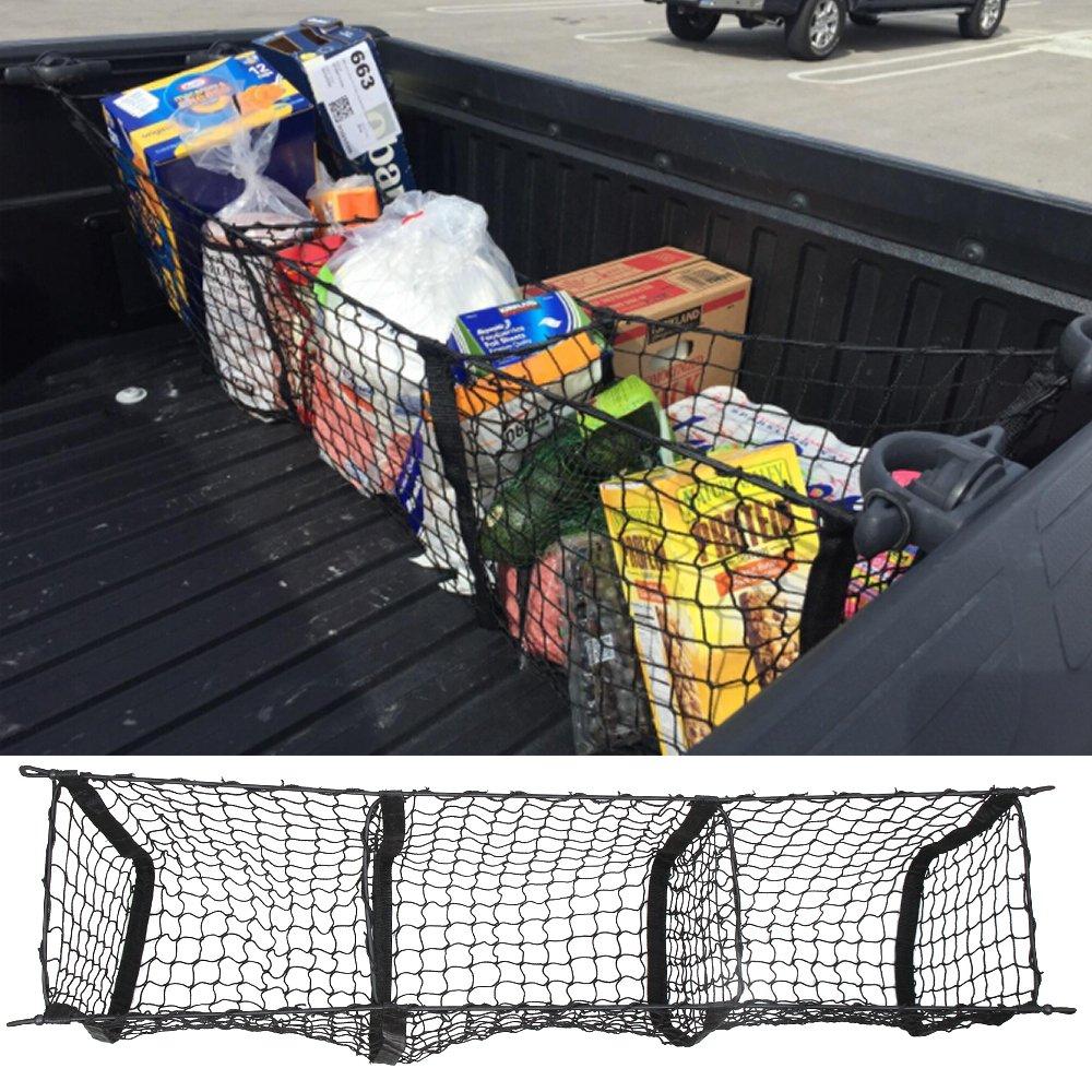 Car Organizer Rear Truck Storage Bag Luggage Nets Hook Dumpster Net For Ford F150 F650 Atlas Supper Duty Ranger Accessories