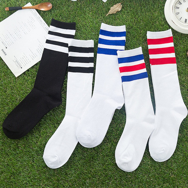 New Men/Women 3 Three Stripes Cotton Socks Retro Old School  Hiphop Skate Long Short  Meias  Harajuk