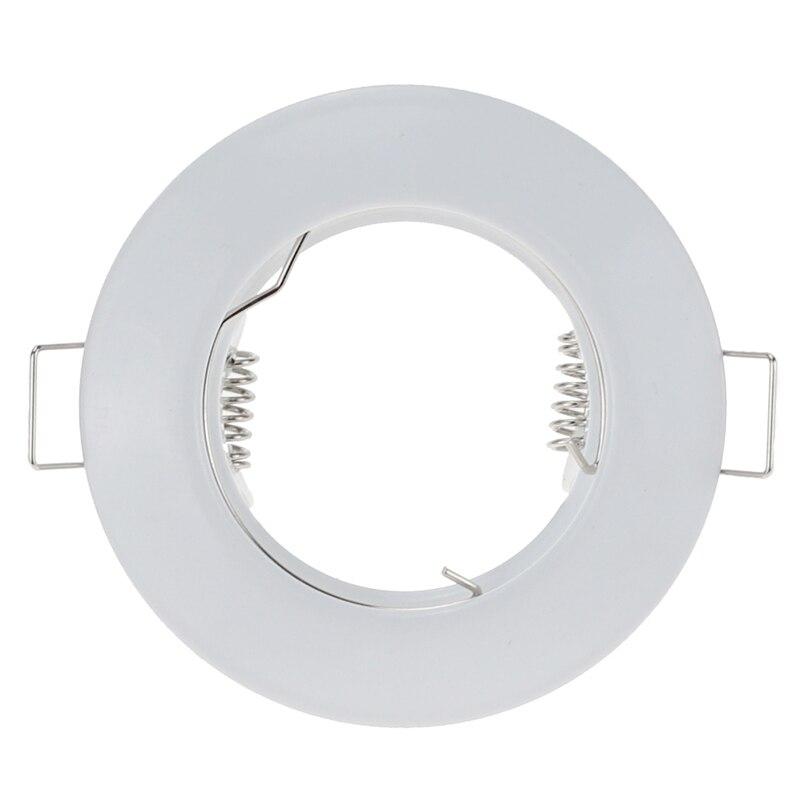 holofote embutido a prova dagua metal branco redondo estrutura de montagem mr16 gu10