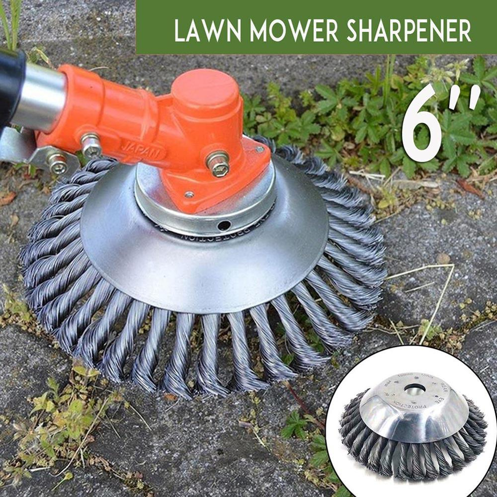 Tosaerba universale lama trimmer disco testa twist knot spazzola filo d'acciaio spazzola ruota disco attrezzi da giardino per decespugliatore