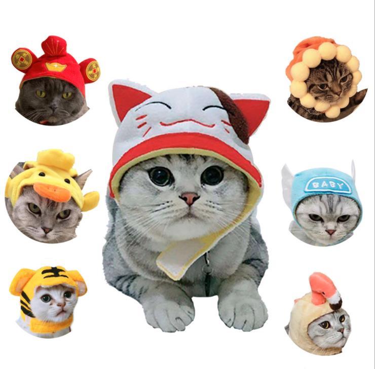 Lustige Haustier Hund Katzen Headwear Haustier Katze Kopfbedeckungen Kopfschmuck Hüte Hund Katze Cosplay Dressing Up Requisiten