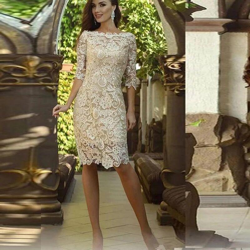 Vestidos de Noche de talla grande, vestido Formal de Novia de encaje,...