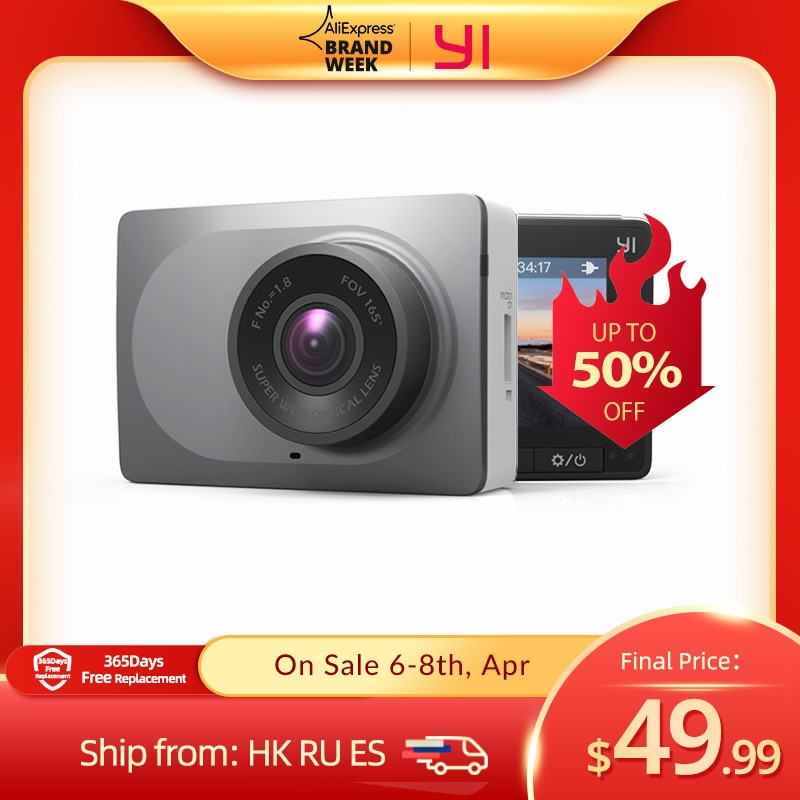 aliexpress - YI Smart Dash Camera International Version WiFi Night Vision HD 1080P 2.7″ Safe Reminder Dashboard Camera
