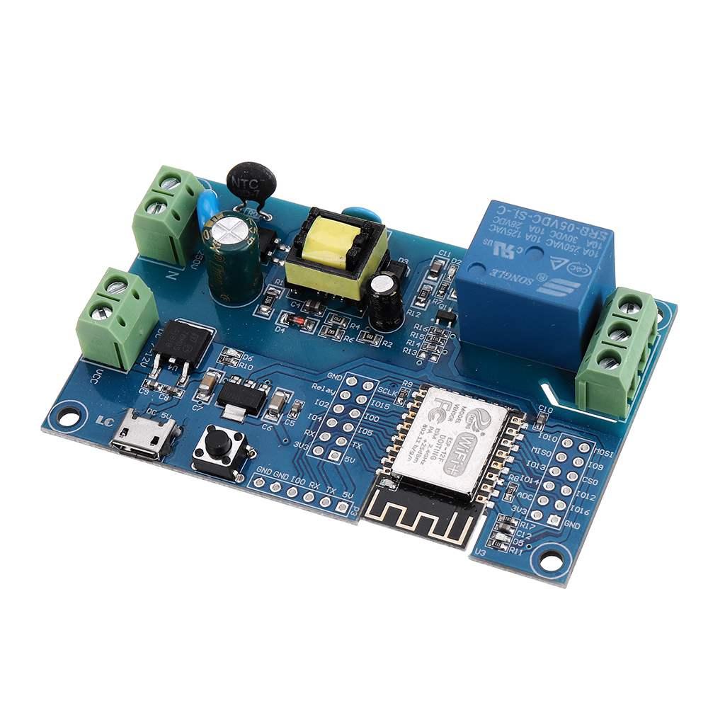 Модуль питания ESP8266 с одним реле питания, AC/DC, wi-fi, с макетной платой ESP8266, 5 в, 5 в пост. Тока, с платой для разработки, с платой по wi-fi, с разъемами ...