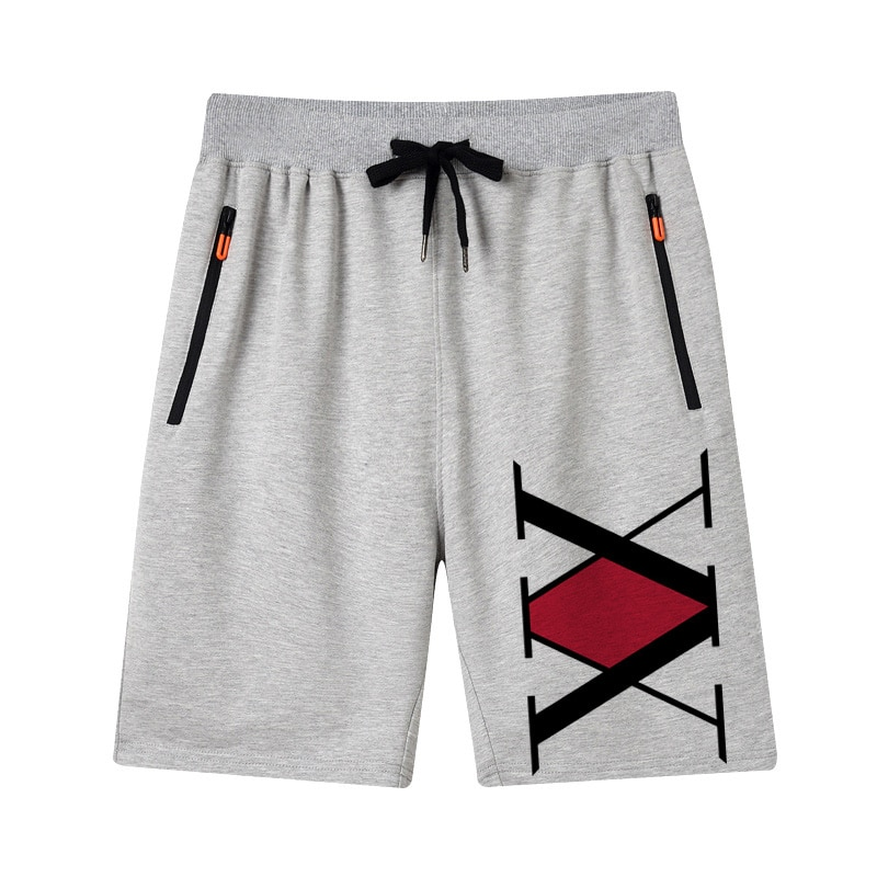 20 Fashion Brand Men Shorts Summer Male Breathable Zip pocket Casual motion Basketball Hunter x Hunter print lacing Shorts pants