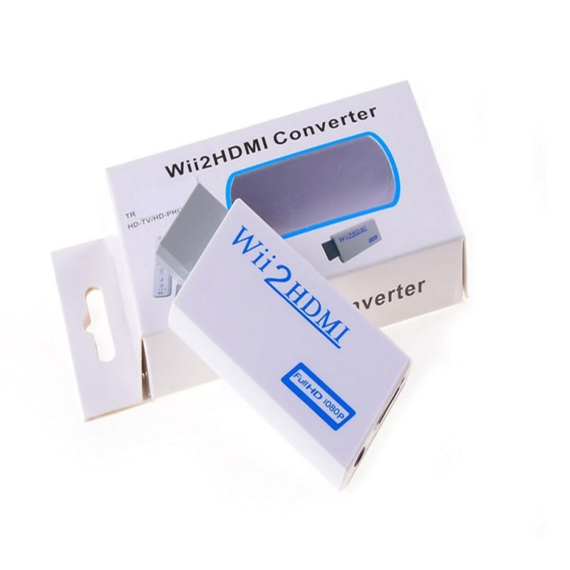 FullHD 1080P para HDMI Conversor HDMI para HDTV PC Monitor Elistooop Display 3.5 milímetros de Áudio para HDMI Conversor Adaptador