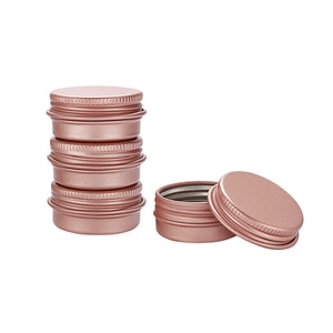 50pcs 10g 15g  30g  Rose Gold DIY Aluminum Jar Ointment Candle Craft Metal Tin Case for Lip Balm Cosmetic Makeup Lotions