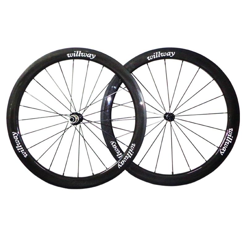 ¡1580g! 50mm ruedas de bicicleta de carretera de carbono 700c pista de frenado de basalto duradero juego de ruedas de carbono cubiertas bicicleta