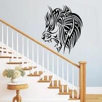 Affiche murale amovible Animal Lion creatif  decor artistique de maison  vinyle  Art deco  autocollant Mural  chambre denfant    Z35