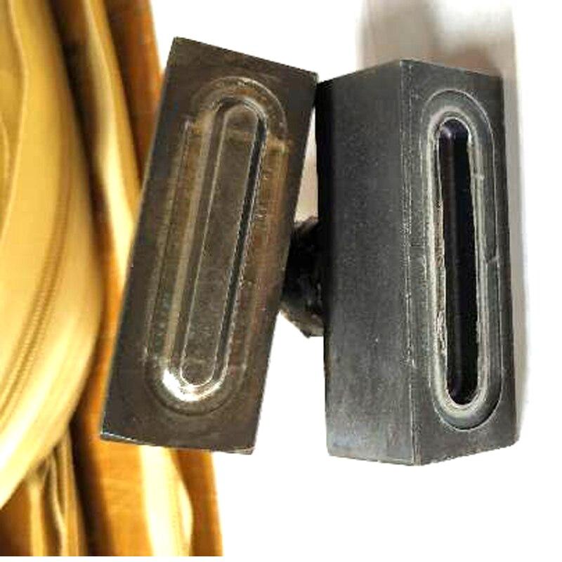 Herramienta de ajuste de ojal oval rectangular de Metal, molde de ojal, molde de presión manual