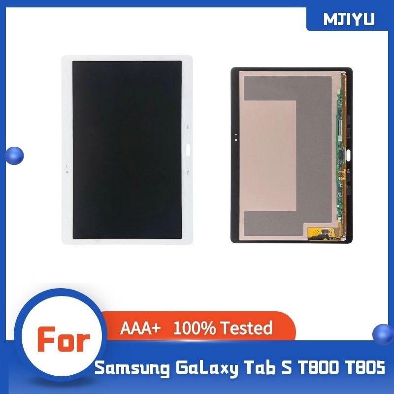 شاشة LCD لسامسونج غالاكسي تبويب S T800 T805 SM-T800 اللوحي LCD تعمل باللمس محول الأرقام أجهزة الاستشعار الجمعية لوحة استبدال 4.9