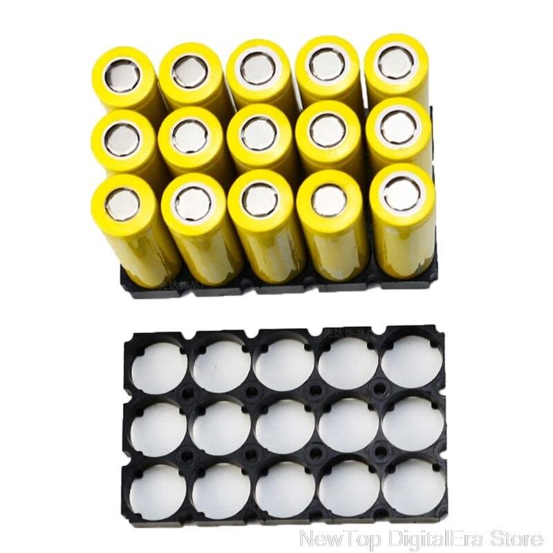 Soporte de batería negro 21700 3x5 10 Uds. Soportes de seguridad para 21700 baterías Ju27 20 Dropship