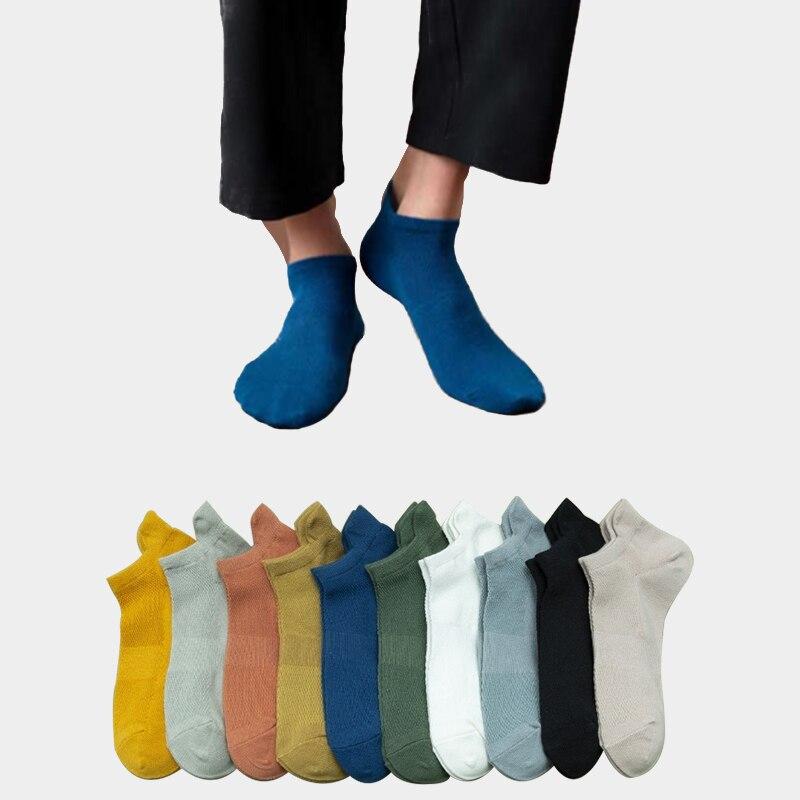 Однотонные носки-лодочки 3 пары, Мужские дышащие спортивные носки, удобные хлопковые носки до щиколотки, мужские белые черные носки, мужские...
