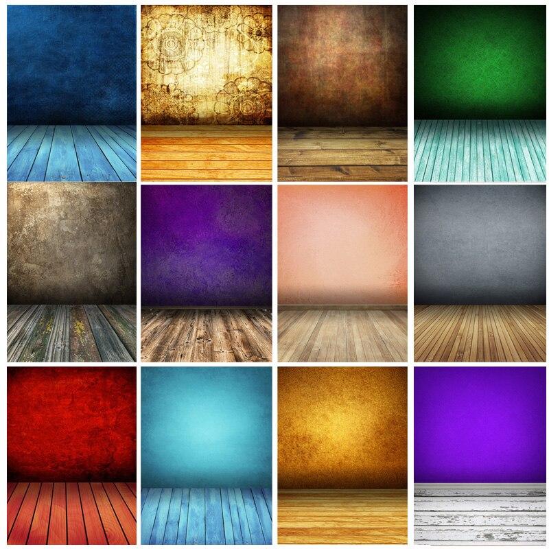 Винтаж градиент сплошной Цвет задники для фотосъемки кирпичная стена деревянный пол детского портрета фото Фоны 210125MB-33