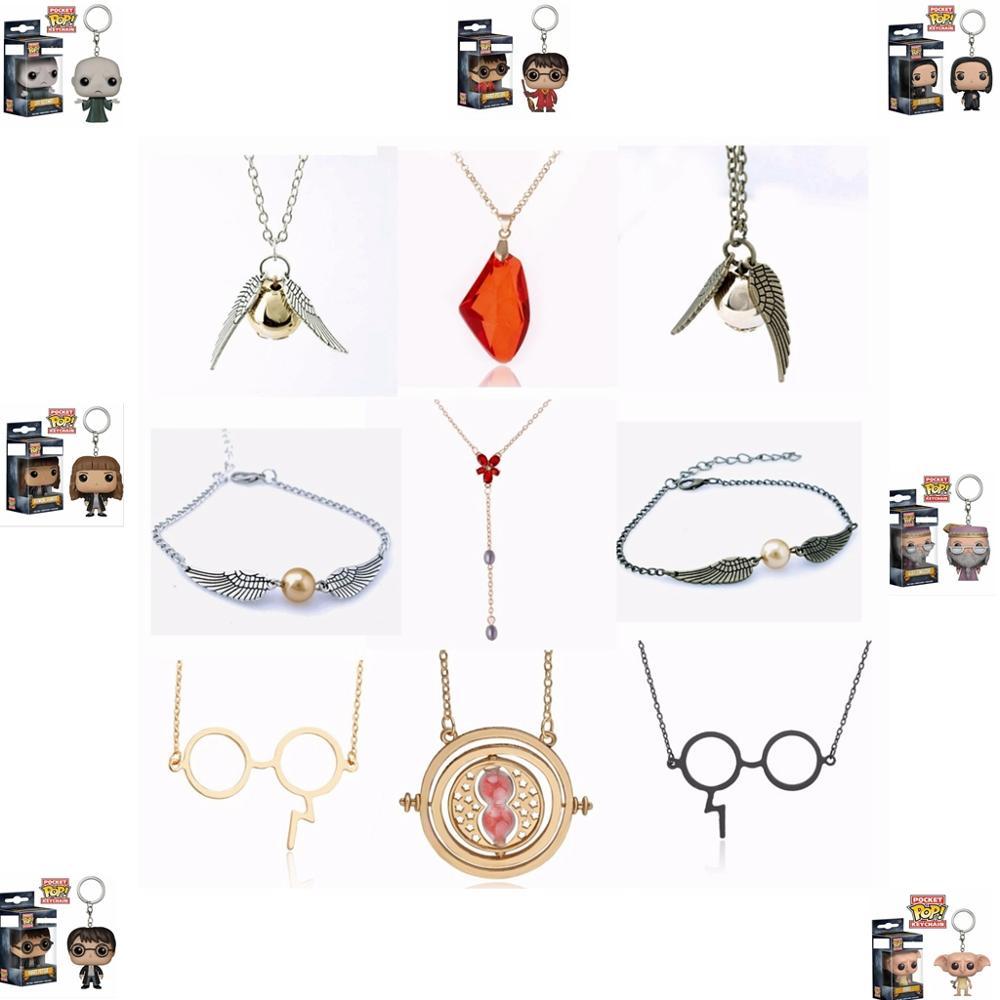 Varita mágica de Harry Potter, colgante de collar de juguetes, collar de juguete, collar de juguete de acción