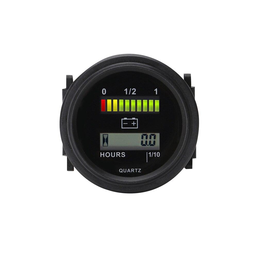 Черный Индикатор заряда, измерительный индикатор заряда батареи, ЖК-дисплей, Круглый, универсальный, прочный, для мотоцикла, автомобиля, дат...