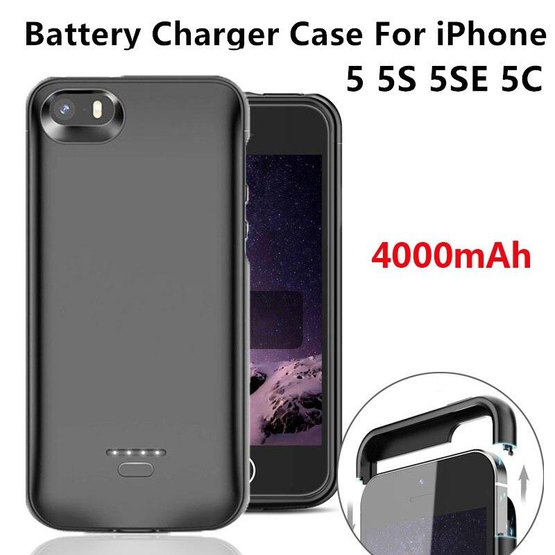 Funda para cargador de batería para iPhone 5S SE 5 5C 5SE, funda portátil para iPhone 6 6S 7 8 Plus X XS XR XS MAX