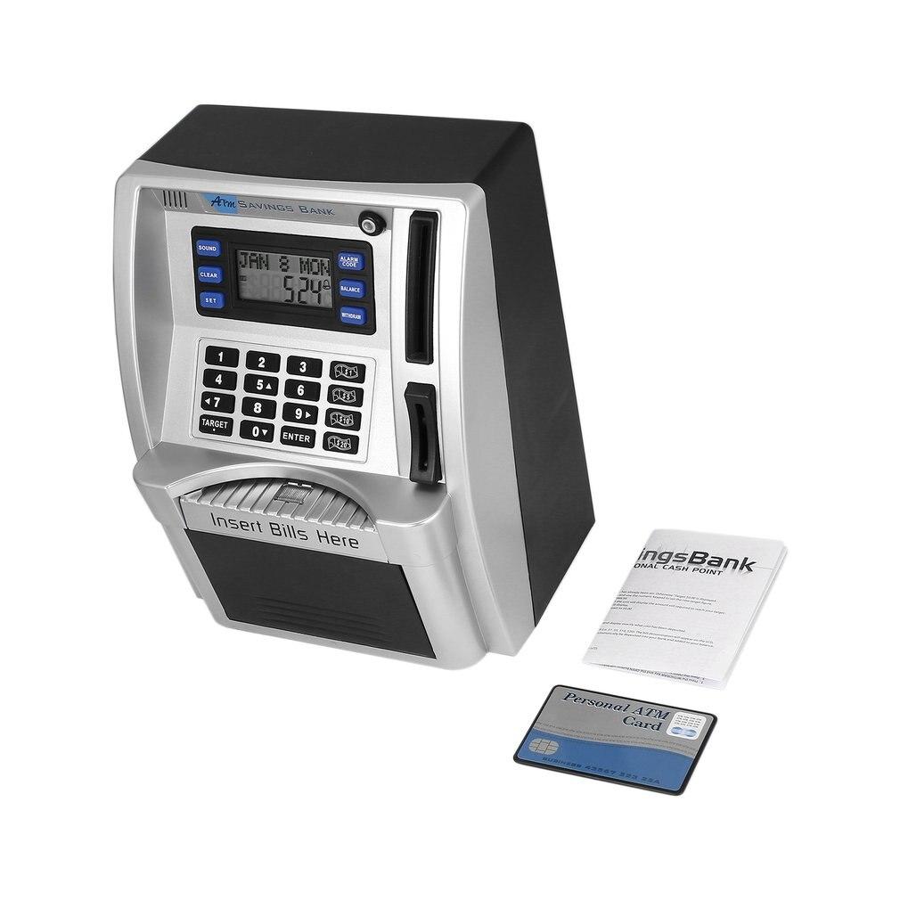 ¡Oferta! Hucha de ahorro para cajero automático, caja de dinero, juguetes tirelire para niños, Banco de ahorro con cajero automático para insertar billetes, perfecto para niños, triangulación de envíos
