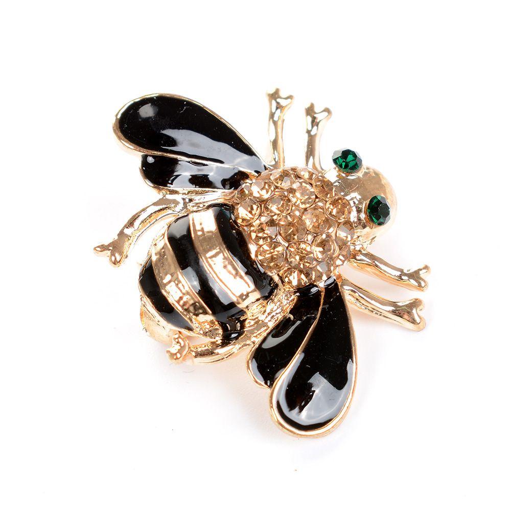 2020 broches de moda con broche de esmalte de abeja para mujer broches de insectos y broches accesorios de Clip de bufanda de joyería