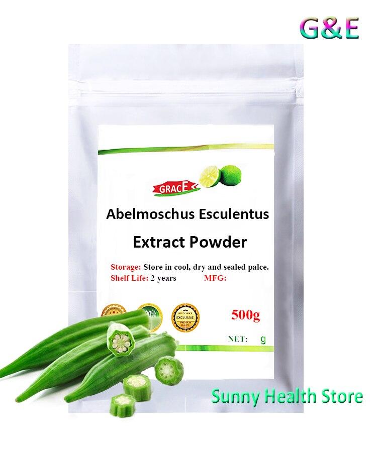 Abelmoschus esculentus extractpowder... Qiu kui Hibiscus esculentus... okra gumbo perder peso planta Viagra envío gratis