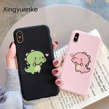 Cute Cartoon etui do telefonu Huawei Honor 10 9 8 Lite X10 5C 6A 7A 7X 8C 8X 8A 8S 9X 9A 20 Pro 20S 10i pokrywa cukierki kolor Dinosaur Case