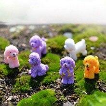 1Pcs Tiny Dog Miniature Figurine Cute Cartoon Figures Animal Models Pet Toy DIY Accessories Doll House Toy Decoration