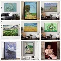 world famous paintings van gogh monet klimt painter works canvas painting decorative painting living room bedroom decor