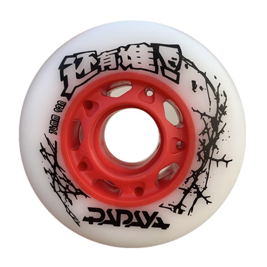 Papaya Inline Skate Wheels Resistant 92A 95A Slalom Sliding FSK 72 76 80mm Roller Skating Tires For SEBA Powerslide Patines