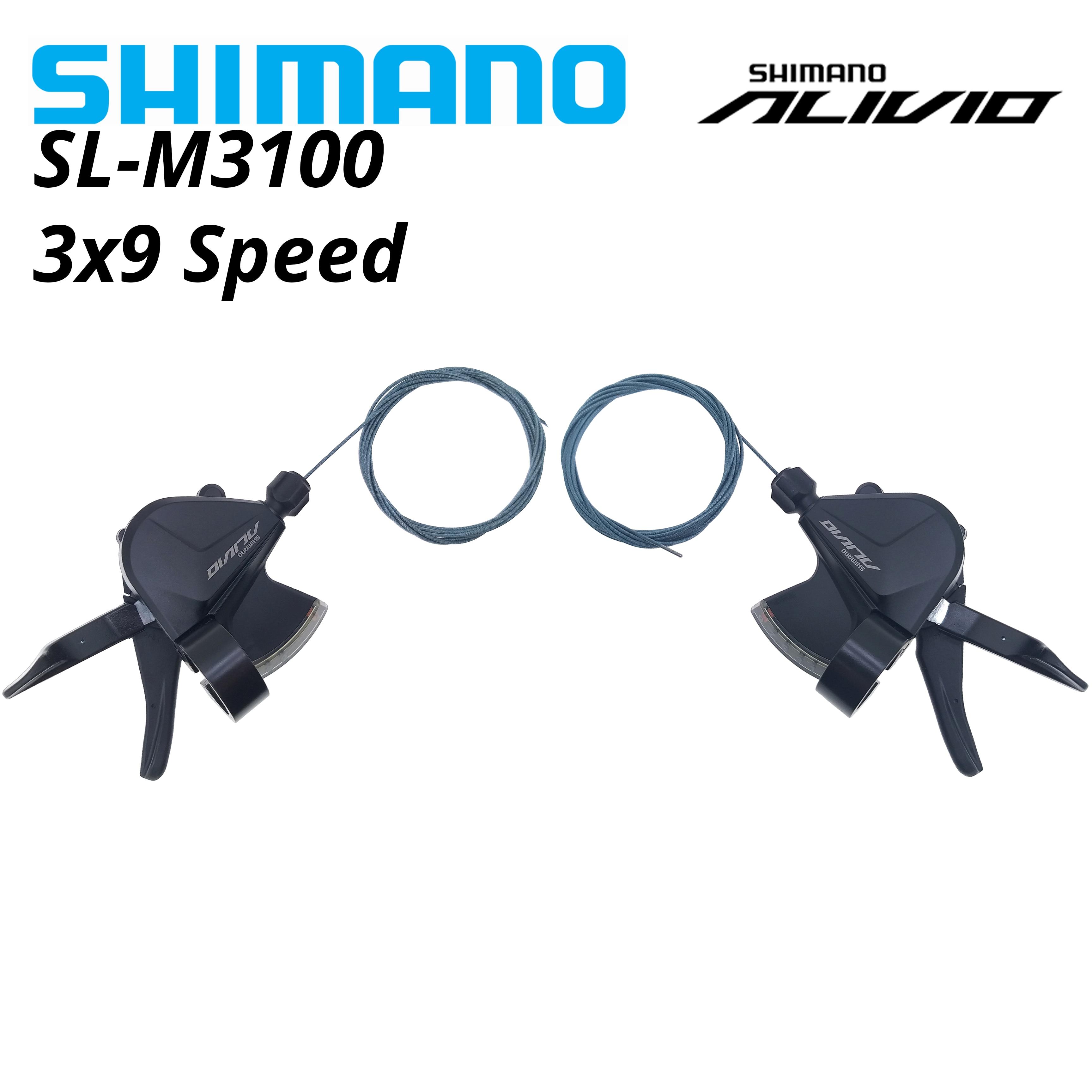 Shimano Alivio SL M3100 3x9 27 velocidad SL-M3100 RAPIDFIRE PLUS montaña cambios...
