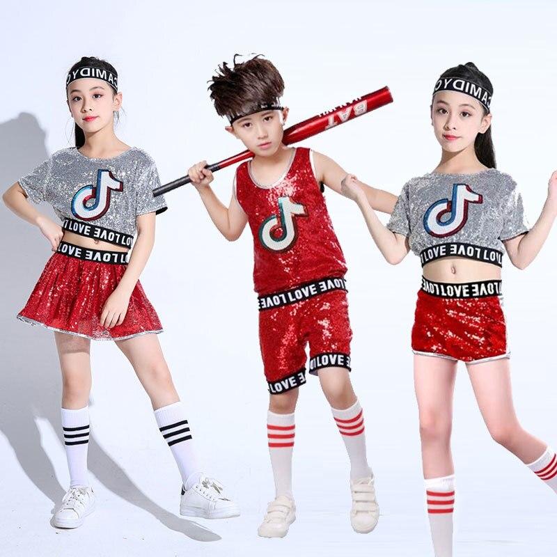 Songyuexia Girls Jazz kostium taneczny dzieci koreański Sexy ubrania do tańca odsłonięte pępek fala nowe kalorie kostiumy do tańca