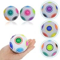 fun creative magic cube ball spherical antistress speed rainbow football ball montessori toys for children stress reliever toy