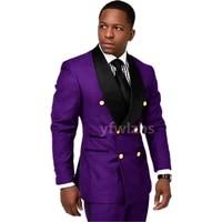 new arrival double breasted groomsmen shawl lapel groom tuxedos men suits weddingprom best blazer jacketpantstie d11