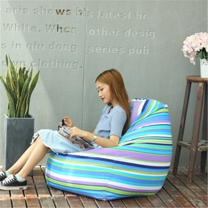 Bedroom Lazy Bag Chair Sofa Pouf Geant chairs for bedroom Bean Bags Cover Whithout Filling lounger Bean Boozled Pouf Chambre