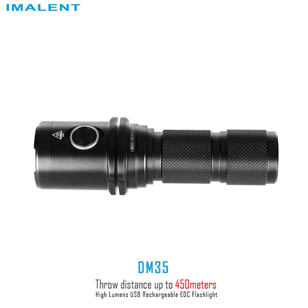 IMALENT DM35 Flashlight USB Recharge Lantern Portable 2000 Lumens Outdoor Lighting Cree XHP35 HI with 21700 Battery enlarge