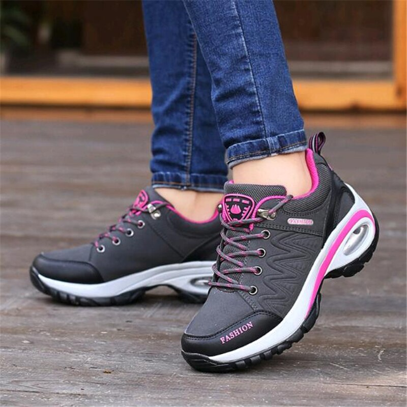 Spring Autumn Sneakers Women Outdoor Non-slip Wear-resistant Travel Shoes Casual Air Cushion Woman Tenis Feminino