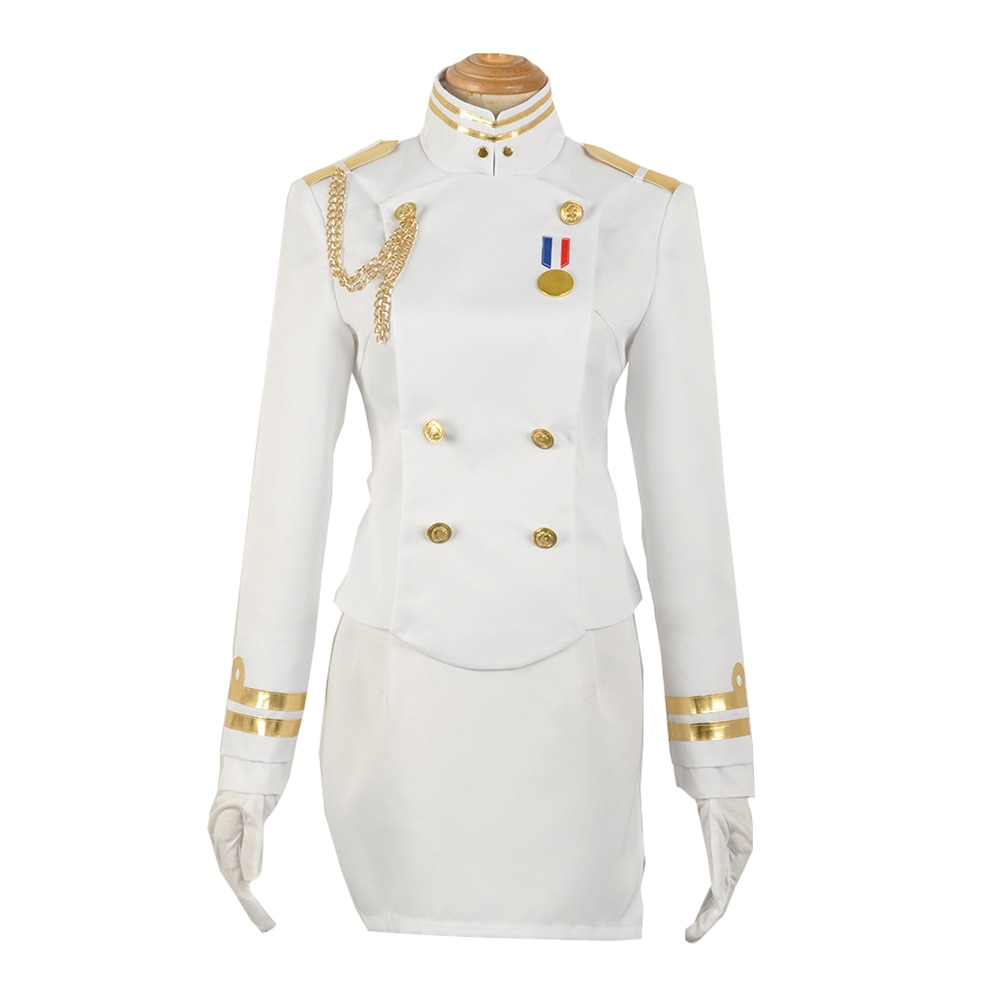 Brdwn Azure Lane mujer Sakura imperio SAKI IJN Atago Takao Cosplay traje uniforme escolar de marinero traje