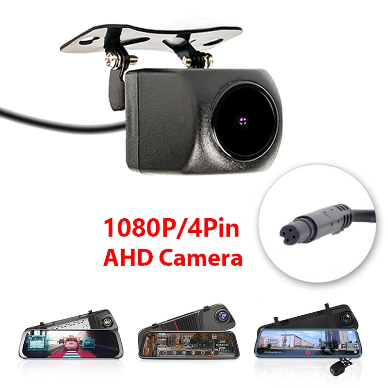 1080P AHD Car Rear View Camera with 4 pin for DVR Mirror Dashcam Waterproof 2.5mm Jack Parking