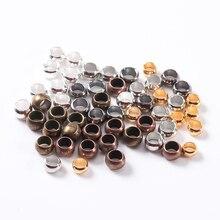 200 pcs/lot positionnement perles cuivre boule sertissage fin perles bouchon entretoise perles pour bricolage fabrication de bijoux résultats fournitures en gros