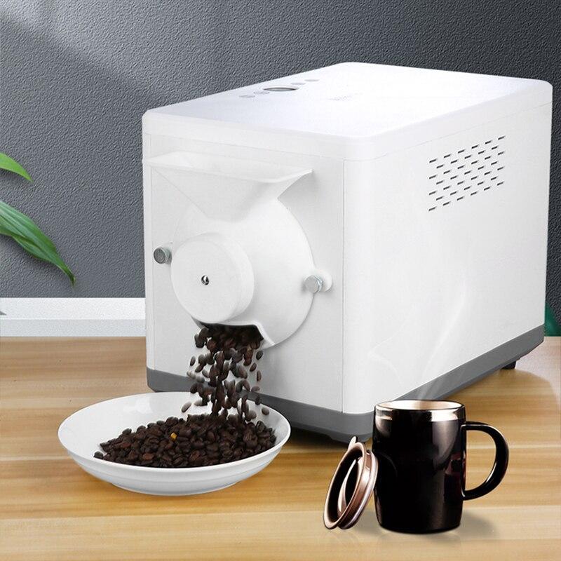 آلة تحميص القهوة الكهربائية المنزلية المقلية السمسم الفول السوداني آلة مع وقت الإعداد التلقائي 1600 واط 100 فولت 220 فولت