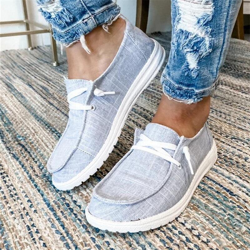 Zapatos planos de Mujer 2020, Zapatos informales de talla grande con cordones, Zapatos planos informales para estudiantes y chicas, Zapatos femeninos para Mujer, zapato para Mujer