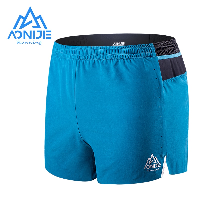 AONIJIE F5101 Men Sports Quick Dry Without Lining Shorts Lightweight Elastic Belt Boxers Trunks Jams For Gym Running Fitness modish quick dry stripes design boxers elastic waist swimming trunks for men