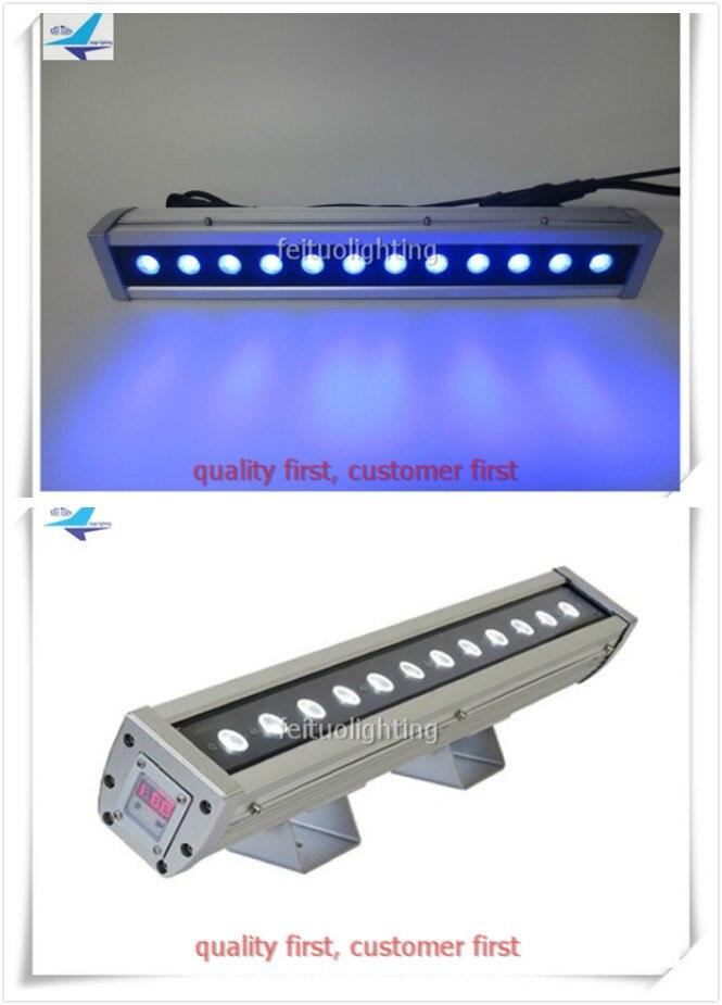 H-24/lote + caso de vuelo RGBW 12x10w 4in1 quad color Led barra pared lavadora Luz lineal dmx512 envío gratis