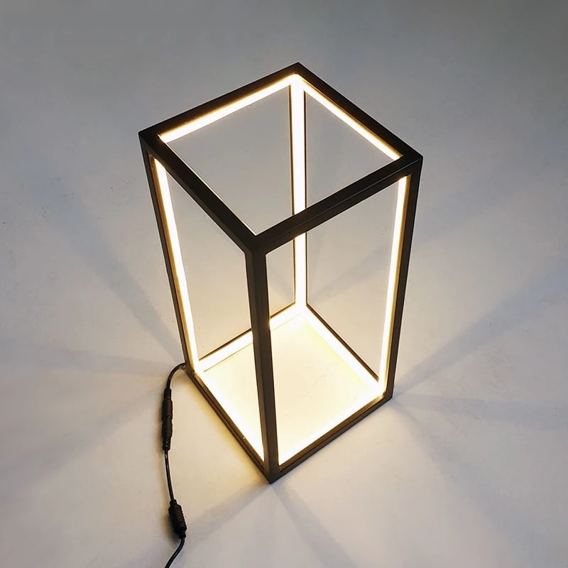 Modern minimalist table lamp led line lamp Nordic creative ins wind bedroom bedside Desk lamp Home Indoor Deco lighting Fixtures