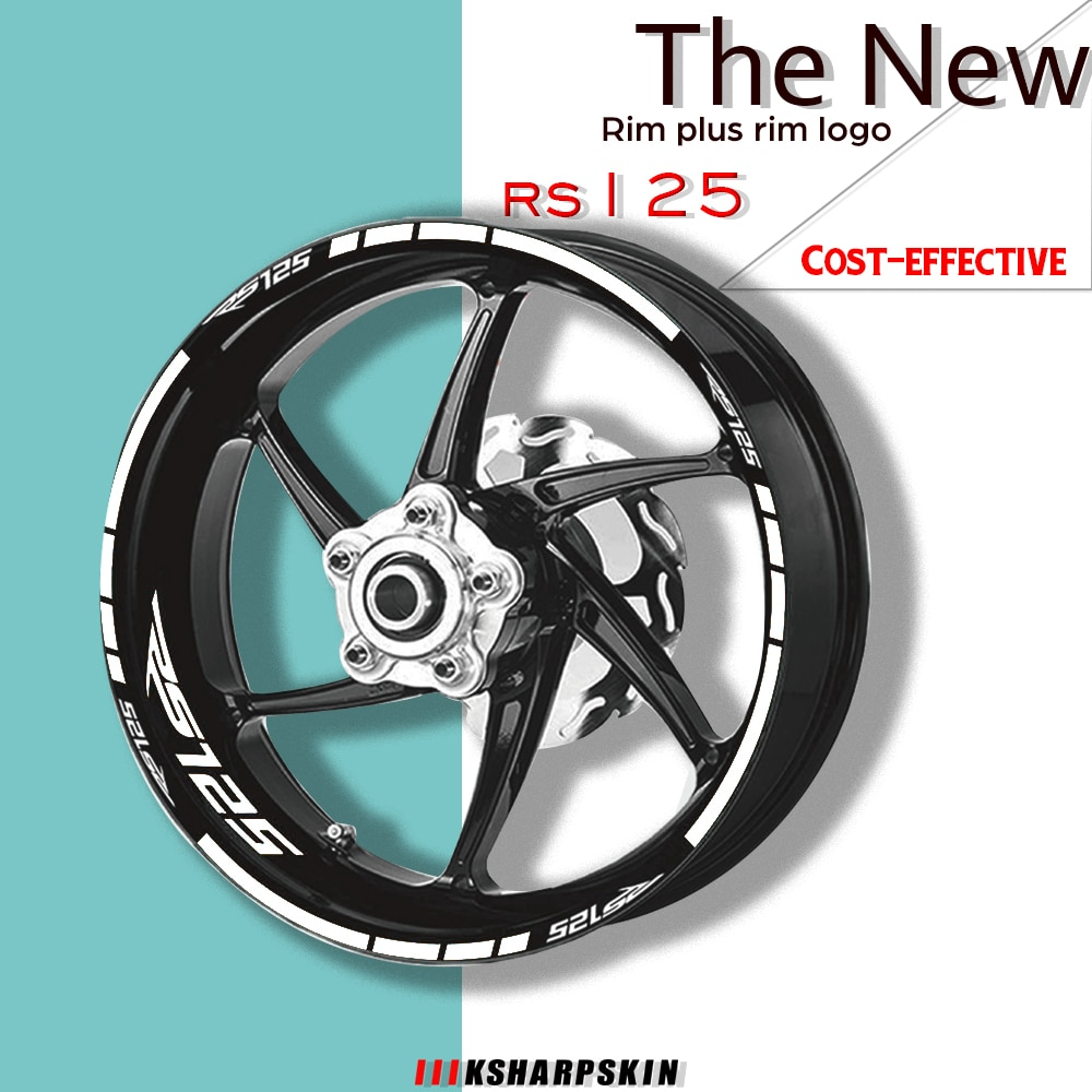 Moto rcycle jantes refletivos para pneu, conjunto de acessórios decorativos para moto rs125 rs 125