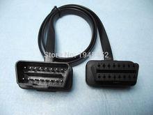 75 см плоский тонкий, как лапша кабель OBD OBD2 OBDII 16Pin папа к женскому диагностическому инструменту Удлинительный соединительный кабель